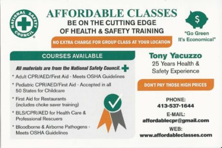 CPR FIRST AID HEALTH & SAFETY TRAINING MA RI CT PEDIATRIC WORKPLACE
